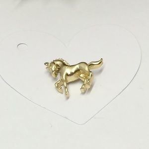 Gorgeous Vintage Gold tone Horse Brooch